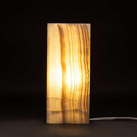 Genuine Natural Square Banded Onyx Lamp