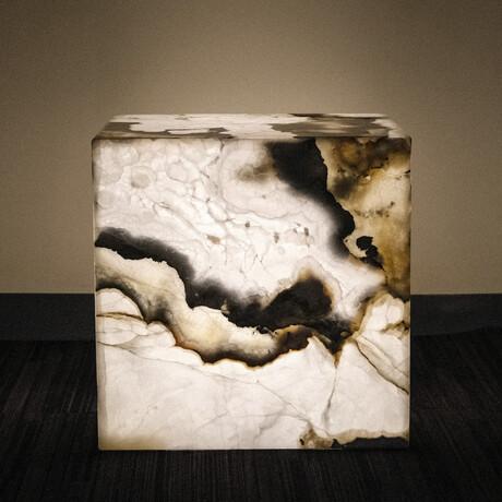 Genuine Polished Onyx Pedestal Coffee Table // V1