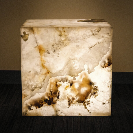 Genuine Polished Onyx Pedestal Coffee Table // V2