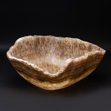 Genuine Polished Large Honey Onyx Bowl