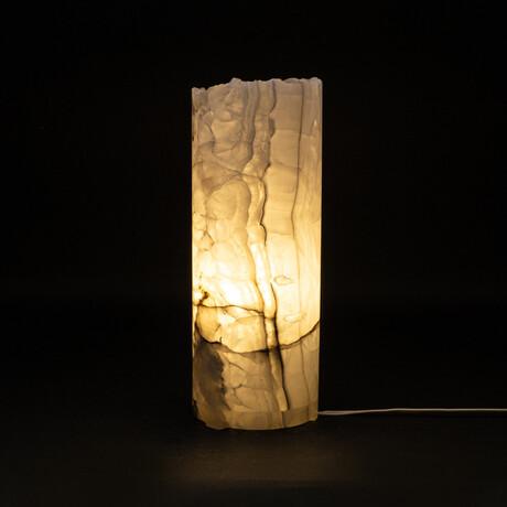 Genuine Natural Round Onyx Lamp // V4
