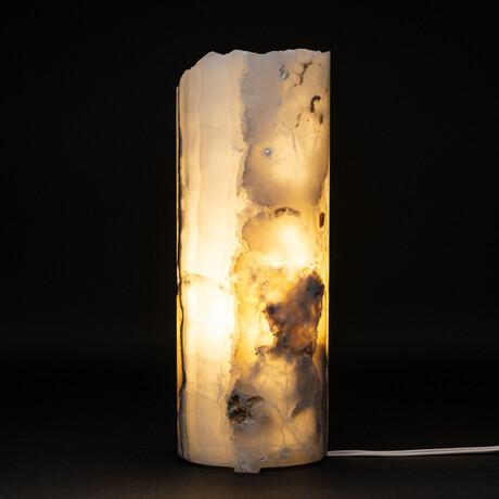 Genuine Natural Round Onyx Lamp // V1