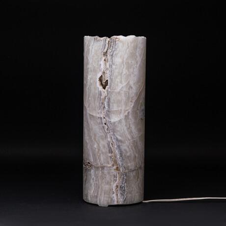 Genuine Natural Round Onyx Lamp // V5