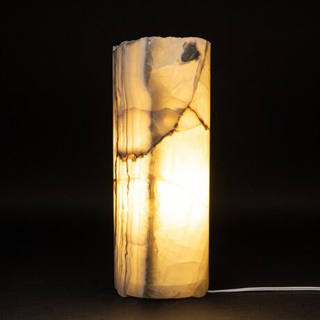 Genuine Natural Round Onyx Lamp // V2