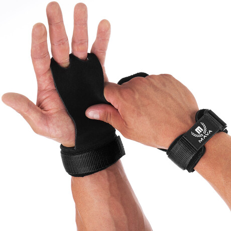 Leather Hand Grips // Pack of 2 // Black (X-Small)