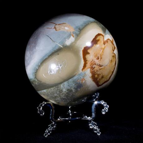 Polychrome Jasper Sphere + Display Stand // Large