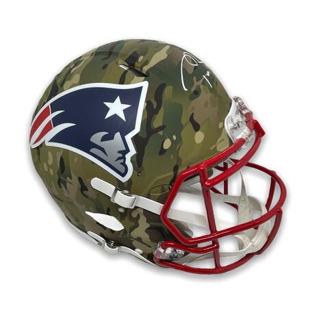 Tom Brady // New England Patriots // Signed Camo Authentic Helmet