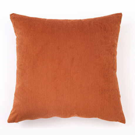 """Corda Solid Ribbed Assent Pillow // 18"""" X 18"""" (Cream)"""