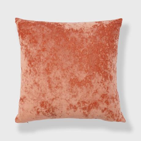 "Yaffa Crushed Velvet Pillow // 20"" X 20"" (Yellow)"