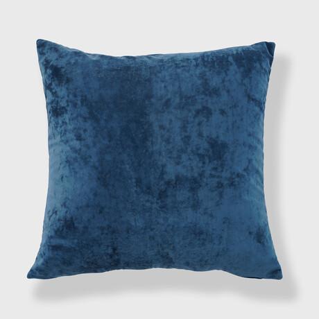 "Yaffa Crushed Velvet Pillow // 18"" X 18"" (Yellow)"