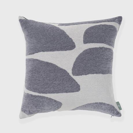 "Stonelance Abstract Woven Pillow // 18"" X 18"" (Smoke Gray Peach)"