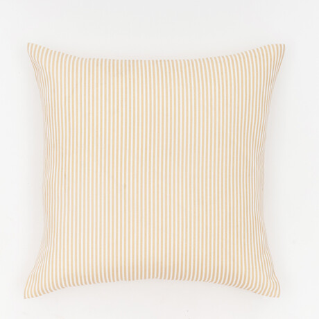 """Biscay Stripes Outdoor Pillow // 18"""" X 18"""" (Black Beauty)"""