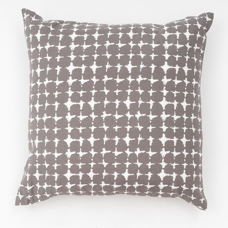 "Lenore Outdoor Pillow // 18"" X 18"" (Black Beauty)"