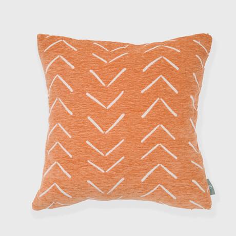 """Synovve Woven Artesian Pillow // 18"""" X 18"""" (Smoke Gray Peach)"""