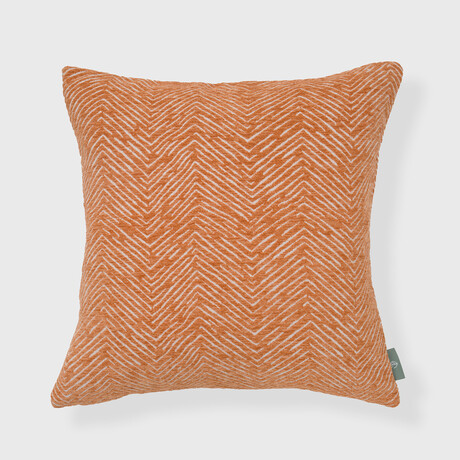 """Werner Woven Chevron Pillow // 18"""" X 18"""" (Toasted Nut)"""