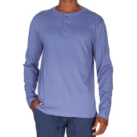 Super Soft Long Sleeve Henley // Denim Blue (S)