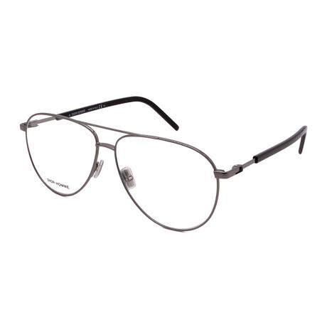 Dior // Men's TECHNICITY 05KJ1 Aviator Optical Frames // Gunmetal
