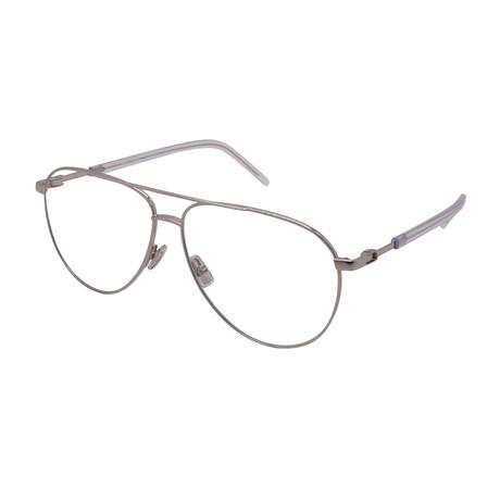 Dior // Men's TECHNICITY 05-10 Aviator Optical Frames // Silver