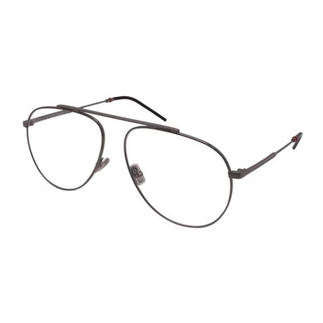 Dior // Men's DIOR 221-KJ1 Aviator Optical Frames // Ruthenium