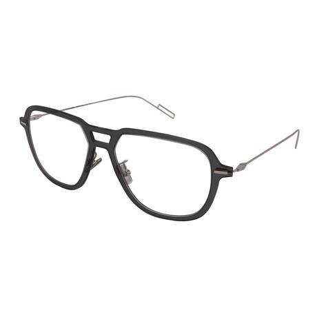 Dior // Men's DIOR DISSAPPEAR 03-KB7 Pilot Optical Frames // Grey