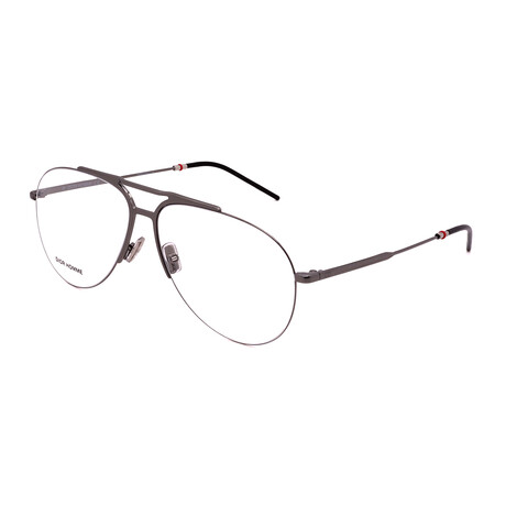 Dior // Men's DIOR 231-KJ1 Pilot Optical Frames // Ruthenium
