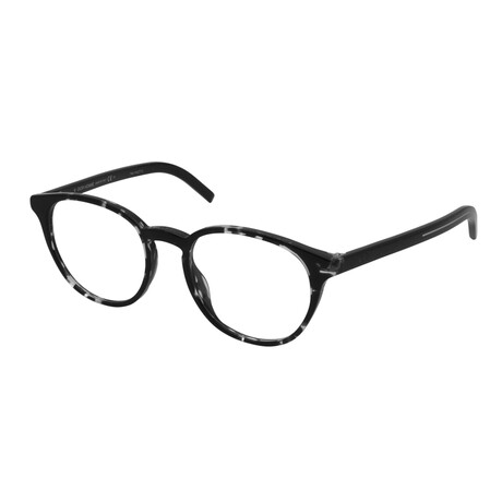 Dior // Men's BLACKTIE 251-WR7 Square Optical Frames // Black Havana