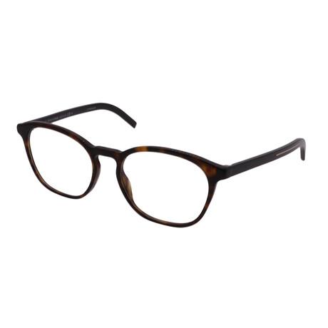 Dior // Men's BLACKTIE 260-86 Square Optical Frames // Havana