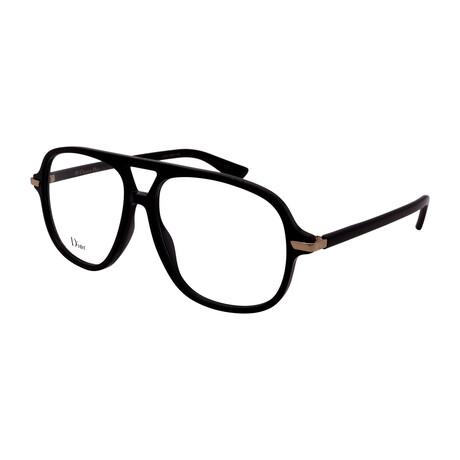 Dior // Men's DIOR ESSENCE 16-807 Aviator Optical Frames // Black