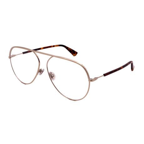 Dior // Men's DIOR ESSENCE 15-3YG Pilot Optical Frames // Light Gold