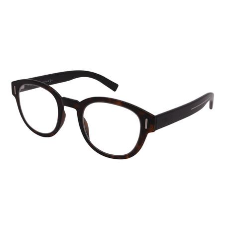 Dior // Men's DIOR FRACTION 03-086 Round Optical Frames // Dark Havana