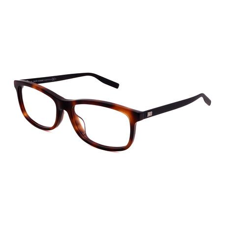 Dior // Men's BLACKTIE 199F-NEW Square Aluminum Optical Frames // Havana