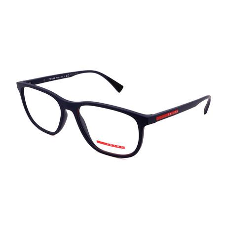 Prada // Men's PS05LV-288101 Square Optical Frames // Matte Blue