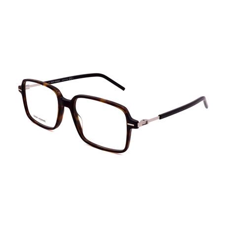 Dior // Men's TECHNICITY 03-086 Square Optical Frames // Black + Dark Havana