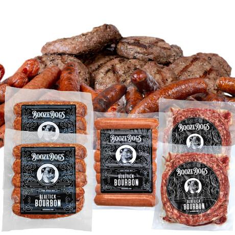 Bourbon Sampler // Bratwurst + Burger + Hot Dog // Pack of 5 // 5 lb