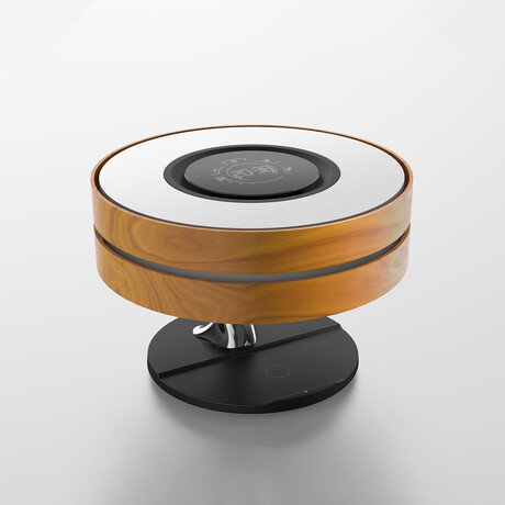 Circle of Life Lamp with Bluetooth Speaker + Wireless Charger // Maple