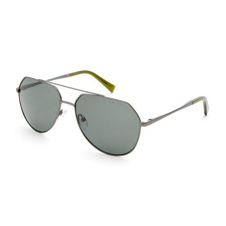 Men's Brock Aviator Polarized Sunglasses // Slate