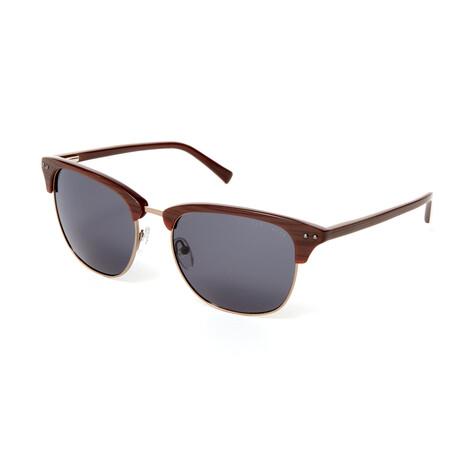 Men's Kamari Square Polarized Sunglasses // Brown
