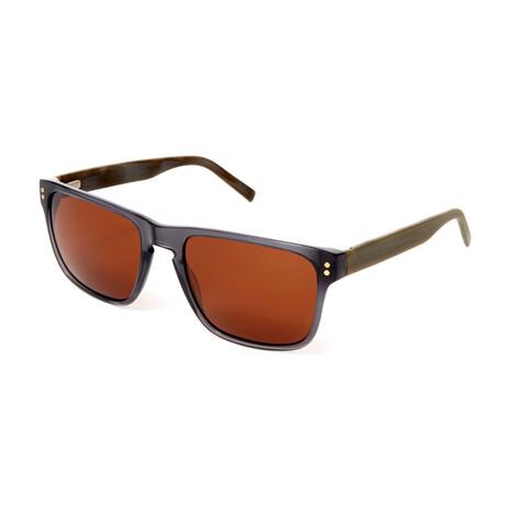 Men's Nico Rectangle Polarized Sunglasses // Gray Crystal