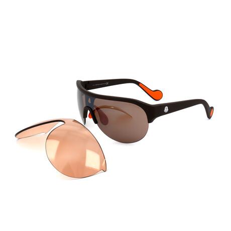 Unisex ML0049-49L Sunglasses // Matte Dark Brown