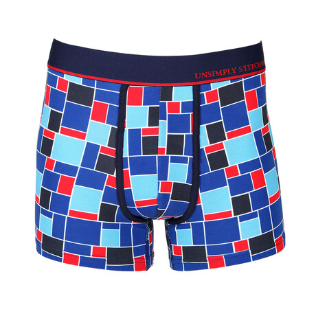 No Show Trunk Century Tile // Blue + Red (S)