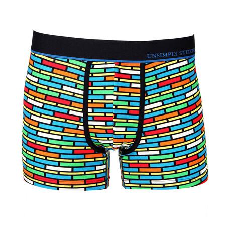 No Show Trunk Brick Stripe // Multicolor (S)