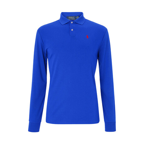 Long-Sleeve Polo Shirt // Royal Blue (S)