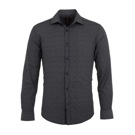Aaron Long Sleeve Button Up Shirt // Dark Gray (S)