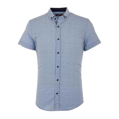 Frank Short Sleeve Button Up Shirt // Blue (S)