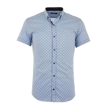 Stanley Short Sleeve Button Up Shirt // Blue (S)