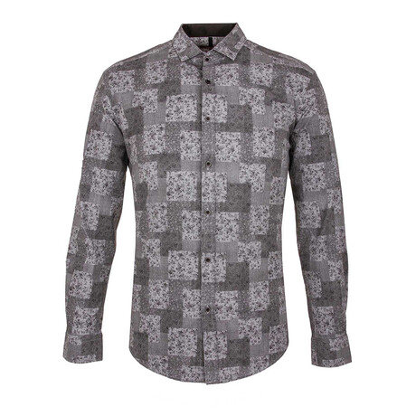 Connor Long Sleeve Button Up Shirt // Black (S)