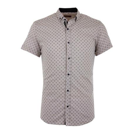 Peter Short Sleeve Button Up Shirt // Cream (S)