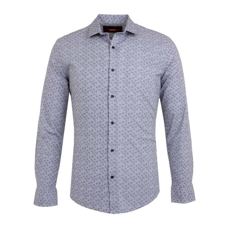 Abe Long Sleeve Button Up Shirt // Blue (S)
