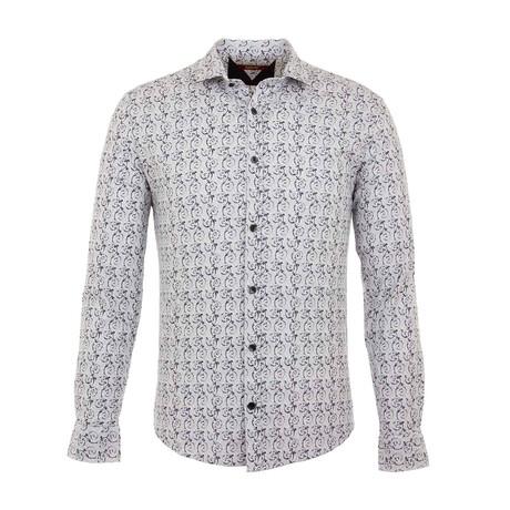David Long Sleeve Button Up Shirt // White (S)