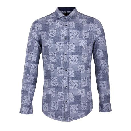 Chris Long Sleeve Button Up Shirt // Dark Blue (S)